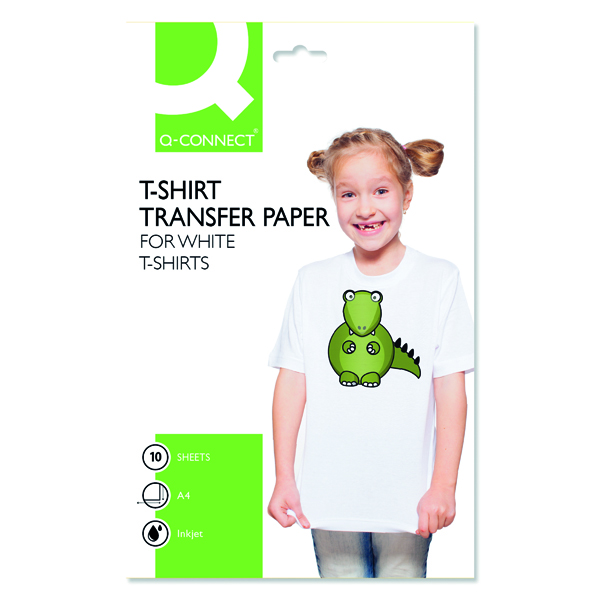 Other Size Q-Connect T-Shirt Transfer Paper (10 Pack) KF01430