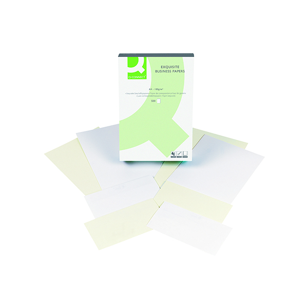Colour 100gsm Q-Connect Laid Antique Vellum A4 Business Paper 100gsm (500 Pack) KF01436