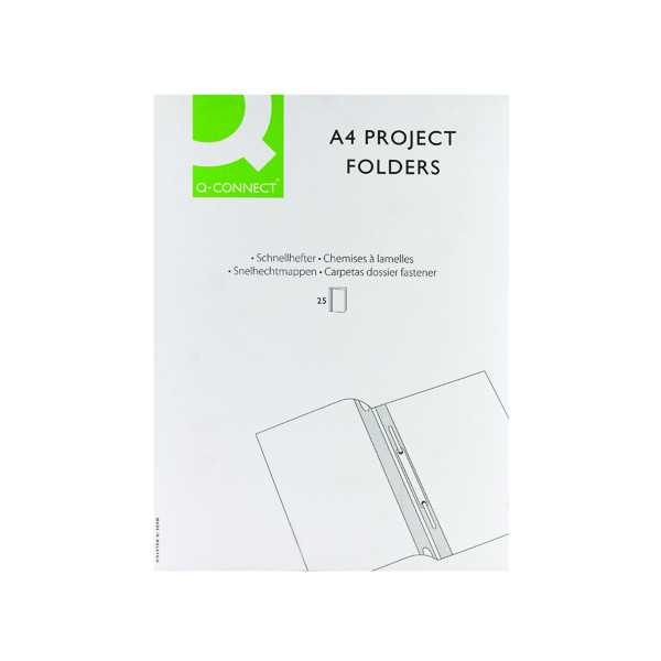 Q-Connect Project Folder A4 Blue (25 Pack) KF01454