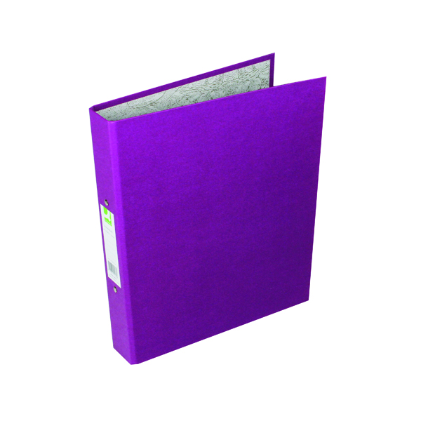 A4 Size Q-Connect 2 Ring 25mm Paper Over Board Purple A4 Binder (10 Pack) KF01475