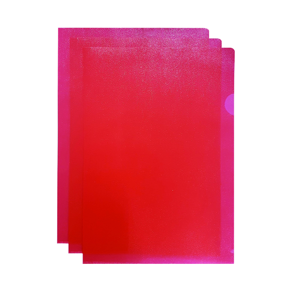 Q-Connect Cut Flush Folder A4 Red (100 Pack) KF01485