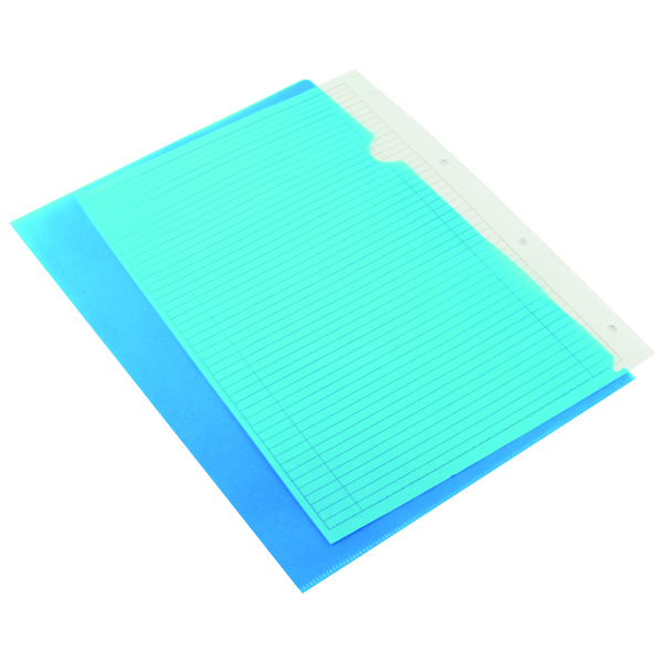 A4 Q-Connect Cut Flush Folder A4 Blue (100 Pack) KF01486