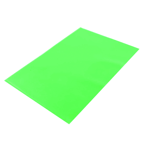 A4 Q-Connect Cut FlushFolder A4 Green (100 Pack) KF01488