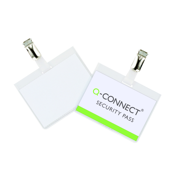Holders Q-Connect Security Badge 60x90mm (25 Pack) KF01562