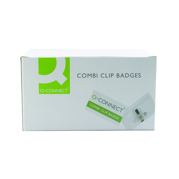 Holders Q-Connect Combination Badge 40x75mm (50 Pack) KF01568