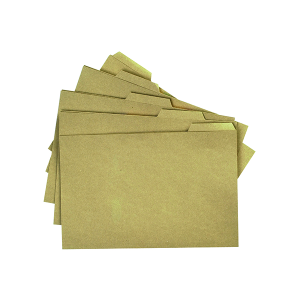 Q-Connect Kraft Tabbed Folder 170gsm Foolscap Buff (100 Pack) KF01578