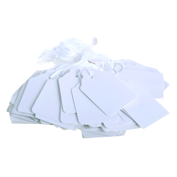 For Labelling Guns Strung Ticket 30x21mm White (1000 Pack) KF01617