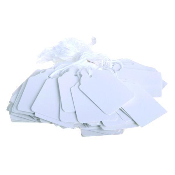 Strung Ticket 30x21mm White (1000 Pack) KF01617