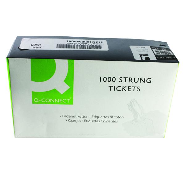 Strung Ticket 70x44mm White (1000 Pack) KF01622