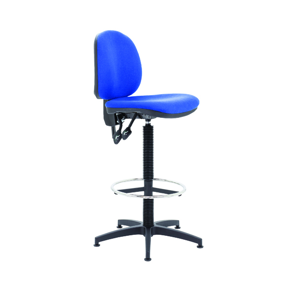Draughtsman Arista Draughtsman Chair Fixed Footrest Blue  KF017021