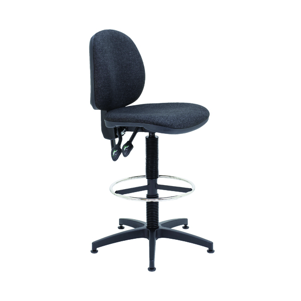 Draughtsman Arista Draughtsman Chair Fixed Footrest Charcoal KF017031