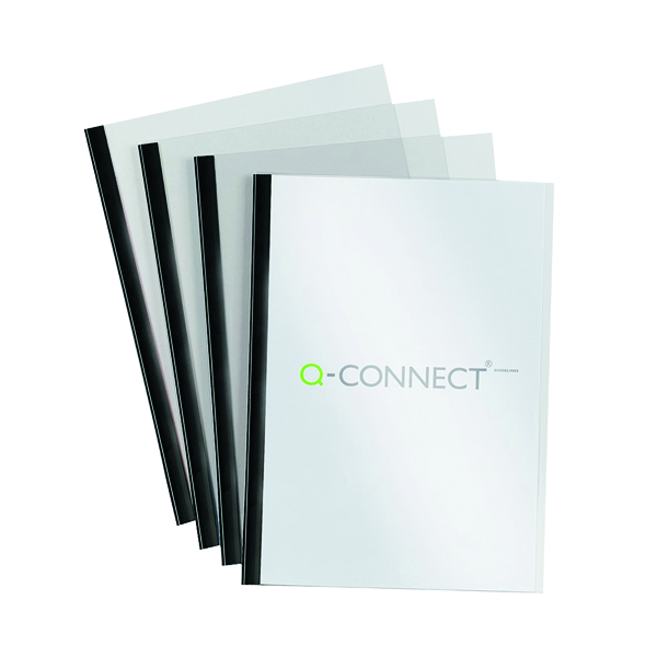 Q-Connect A4 5mm Slide Binder and Cover Set Black (20 Pack) KF01926