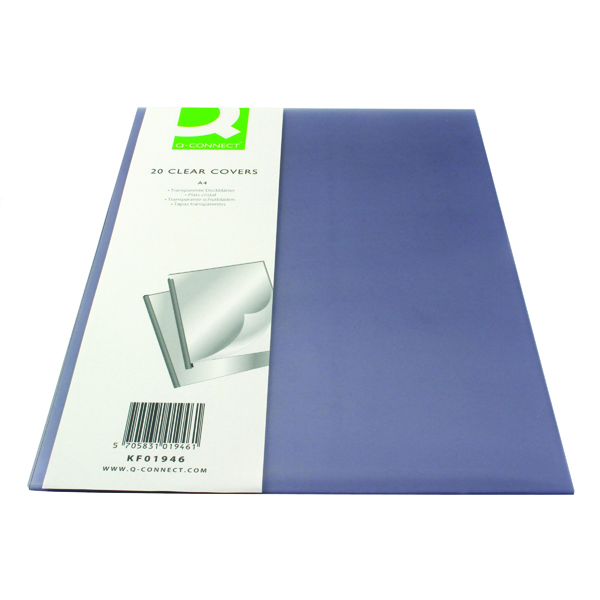 Q-Connect Clear A4 Clear Covers (20 Pack) KF01946