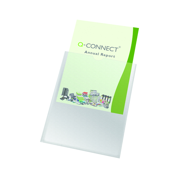 Card Holders Q-Connect Card Holder Polypropylene A4 (100 Pack) KF01947