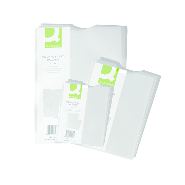 Card Holders Q-Connect Card Holder Polypropylene A5 100 Pack) KF01948