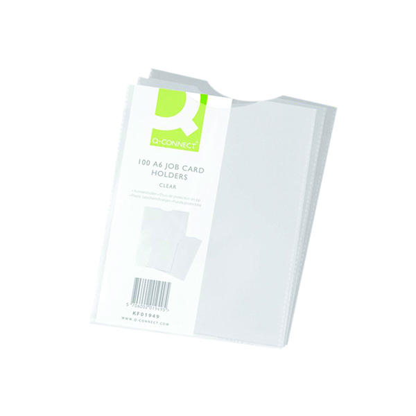 A Sizes Q-Connect Card Holder Polypropylene A6 (100 Pack) KF01949
