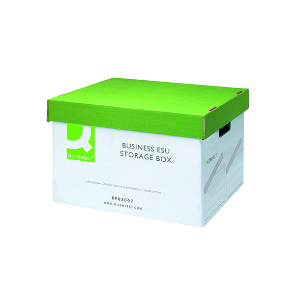Q-Connect Business Easy Set Up Storage Box (10 Pack) KF02007