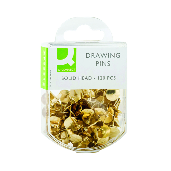 Q-Connect Drawing Pins Brass (1200 Pack) KF02018Q