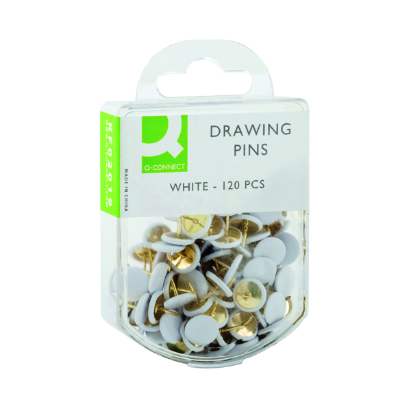 Pins Q-Connect Drawing Pins White (1200 Pack) KF02019Q