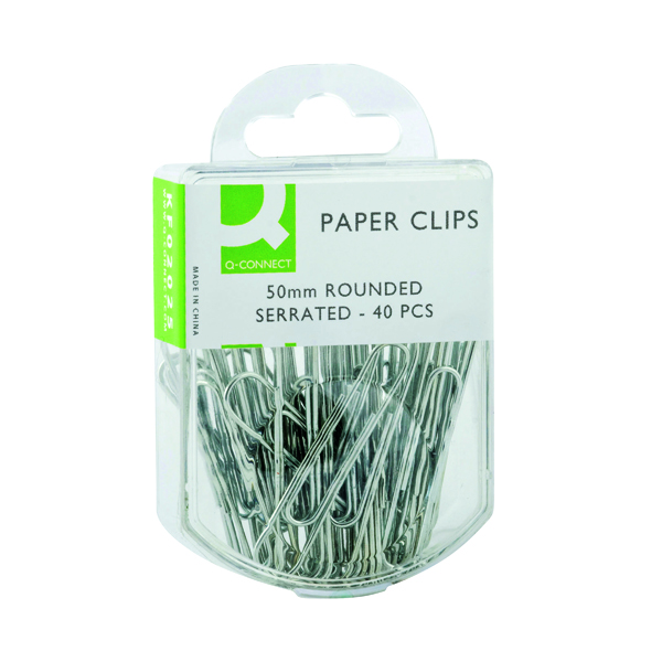 Q-Connect Paperclips Serrated 50mm (400 Pack) KF02025Q