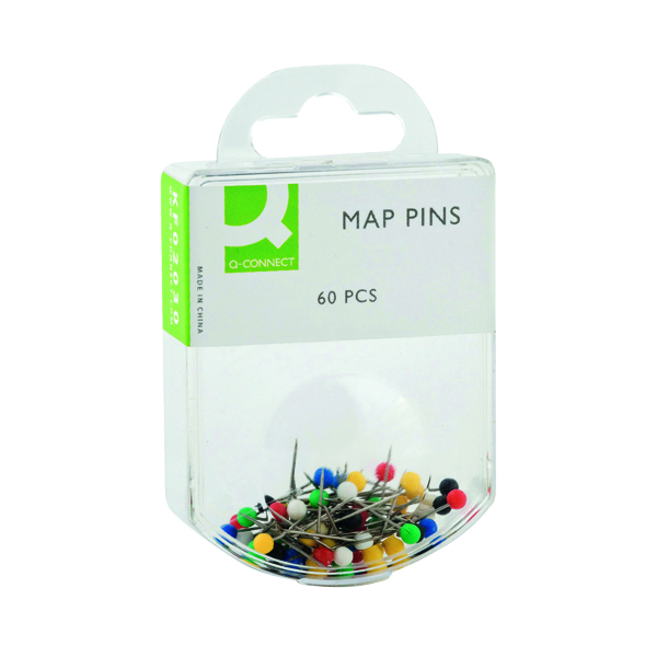 Pins Q-Connect Map Pins Assorted (600 Pack) KF02030Q