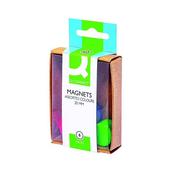 Q-Connect Round Magnet 24mm Assorted (60 Pack) KF02040Q
