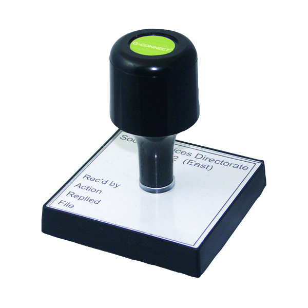 Bespoke Q-Connect Voucher for Custom Rubber Stamp 75 x 35mm KF02102