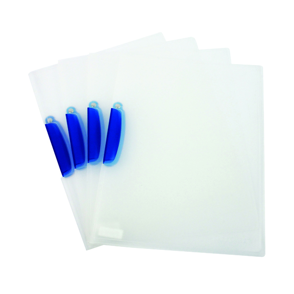 Q-Connect Swivelclip Files A4 Clear (25 Pack) KF02138