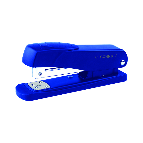 Desktop Staplers Q-Connect Half Strip Metal Stapler Blue KF02149