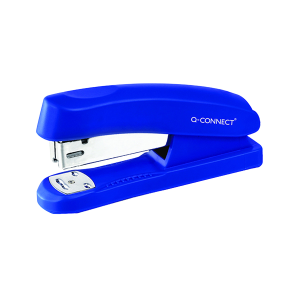 Q-Connect Half Strip Plastic Stapler Blue KF02151