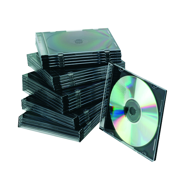 Q-Connect Black Slim Jewel Case (25 Pack) KF02210