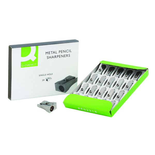 Single Q-Connect Metal Pencil Sharpener (20 Pack) KF02218