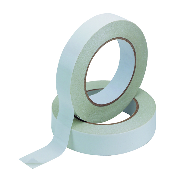Q-Connect Double Sided Tissue Tape 25mm x 33m (6 Pack) KF02221