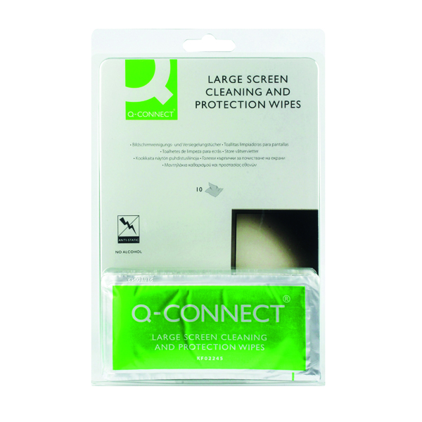 Screen Q-Connect Large Screen/Protection Wipes (10 Pack) KF02245A