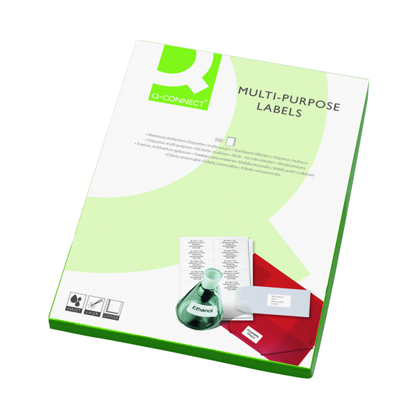 Q-Connect Multipurpose Copier Labels 210x287mm 1 Per Sheet White (500 Pack) KF02247