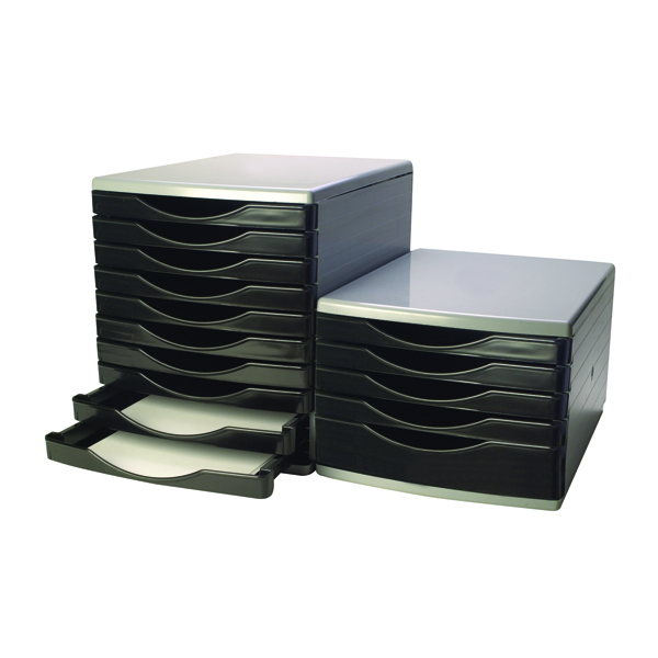 5 Drawer Q-Connect Black and Grey 5 Drawer Tower KF02253