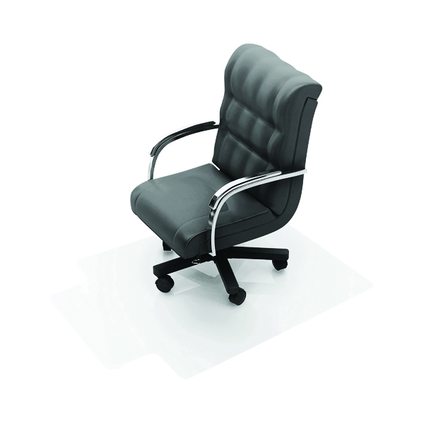 For Hard Floors Q-Connect Chair Mat PVC 1143x1346mm Clear KF02256