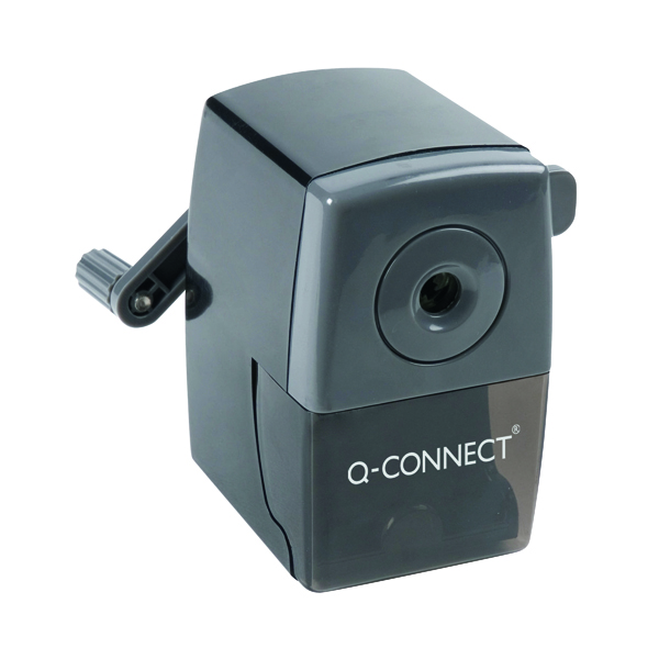 Single Q-Connect Desktop Pencil Sharpener Black KF02291