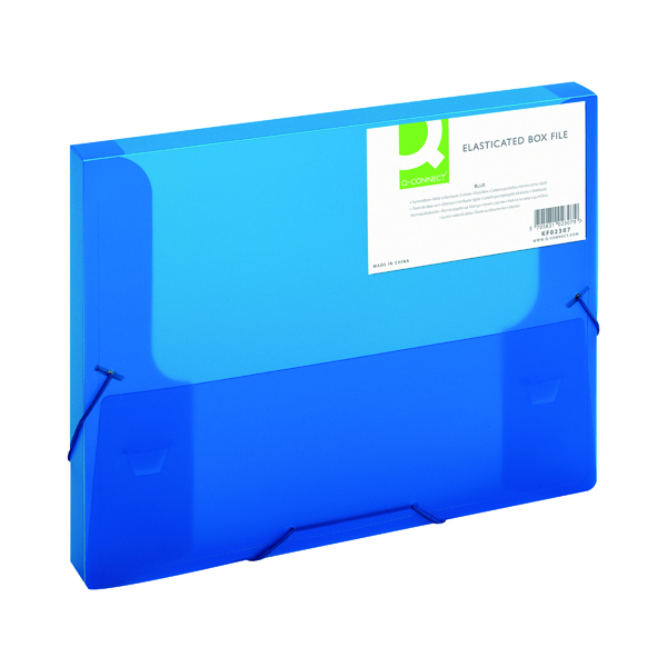 Unspecified Q-Connect Elasticated Folder 25mm A4 Blue KF02307