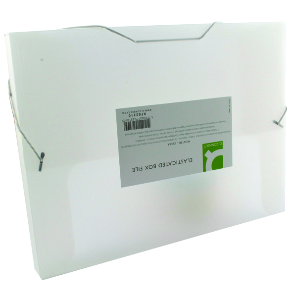 Unspecified Q-Connect Elasticated Folder 25mm A4 Clear KF02310