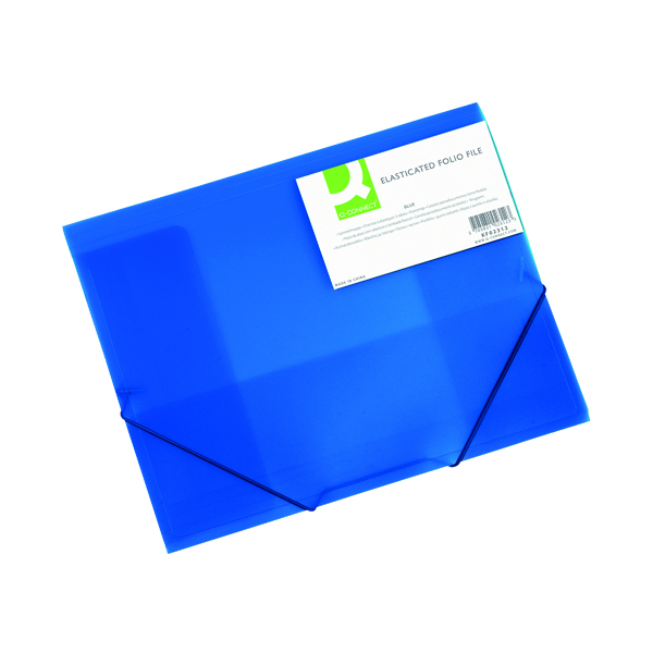 A4 Q-Connect Elasticated Folder 3 Flap A4 Blue KF02312