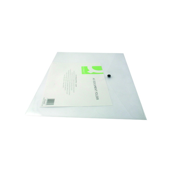 Q-Connect Polypropylene Document Folder A3 Clear (12 Pack) KF02464