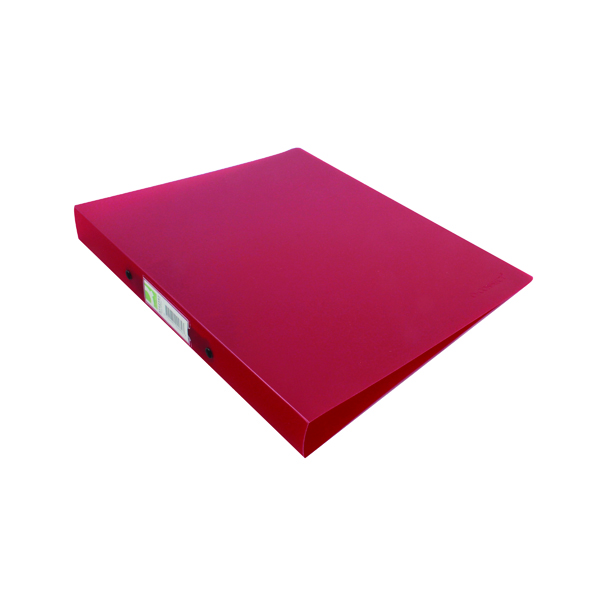 A4 Size Q-Connect 2 Ring Binder Frosted A4 Red KF02482