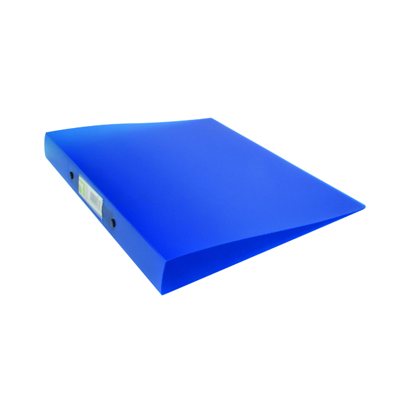 A4 Size Q-Connect 2 Ring Binder Frosted A4 Blue KF02483