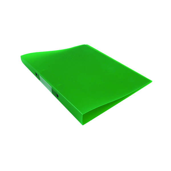 A4 Size Q-Connect 2 Ring Binder Frosted A4 Green KF02484