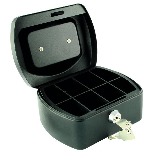 Cash Q-Connect Cash Box 6 Inch Black KF02601