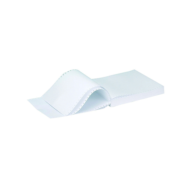 Plain Q-Connect 11 x 9.5in 2-Part NCR White/Pink Plain Listing Paper (1000 Pack) KF02708