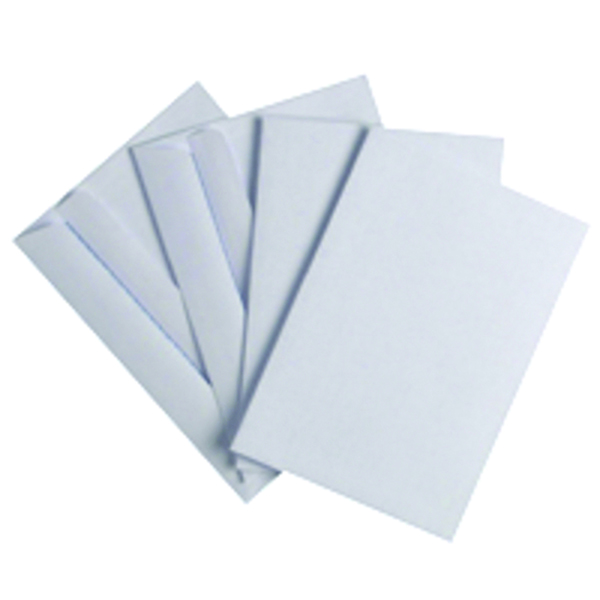 White Plain Q-Connect C6 Envelope Wallet Self Seal 80gsm White (1000 Pack) KF02714