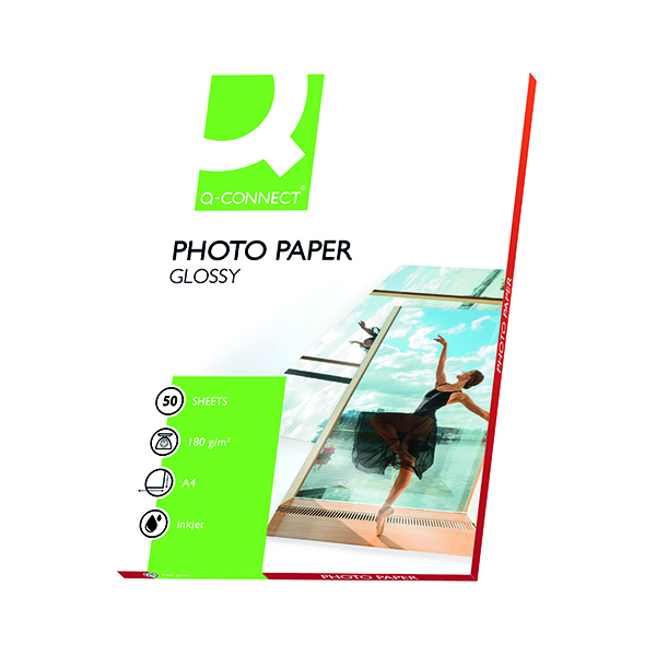 Q-Connect A4 Gloss Photo Paper 180gsm (50 Pack) KF02771