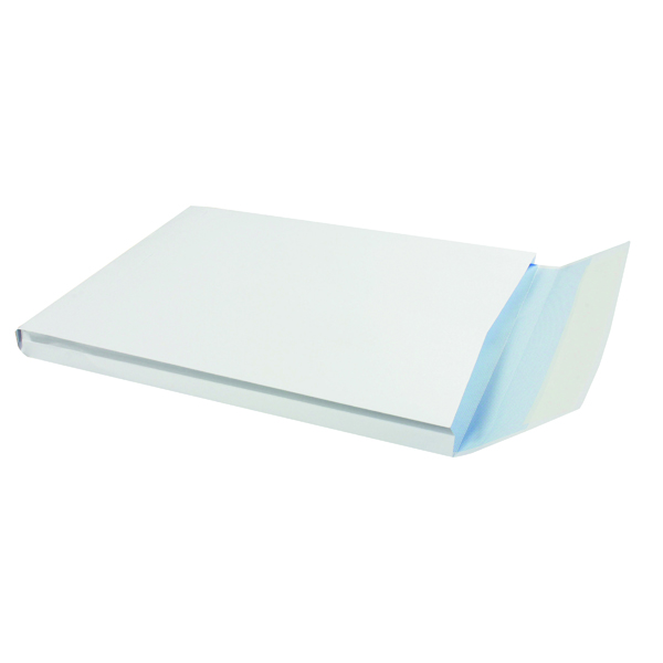 Gusset Plain & Window Q-Connect C4 Envelopes Window Gusset Peel and Seal 120gsm White (125 Pack) KF02891